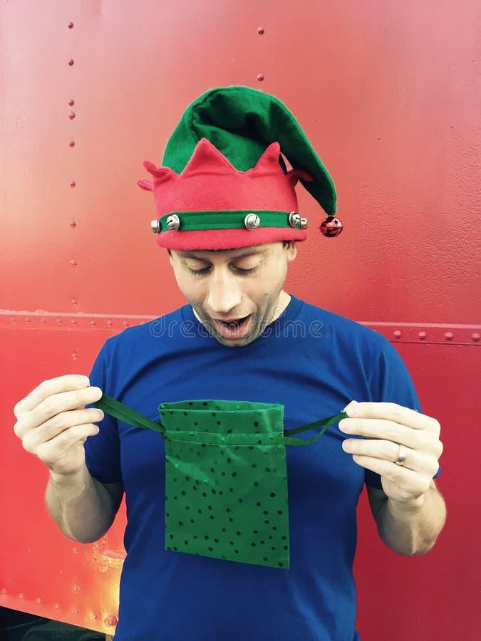 扣人心弦的圣诞节惊奇! 免版税库存照片