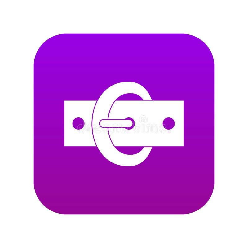 扣传送带象数字紫色 皇族释放例证