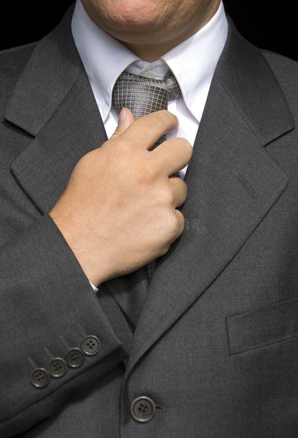 执行关系的生意人 免版税库存照片