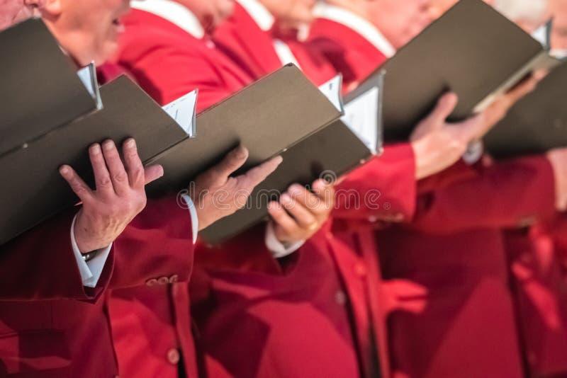 执行在大教堂的精神唱诗班 库存图片