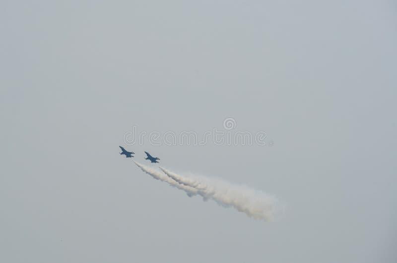 执行在新加坡的战机 图库摄影