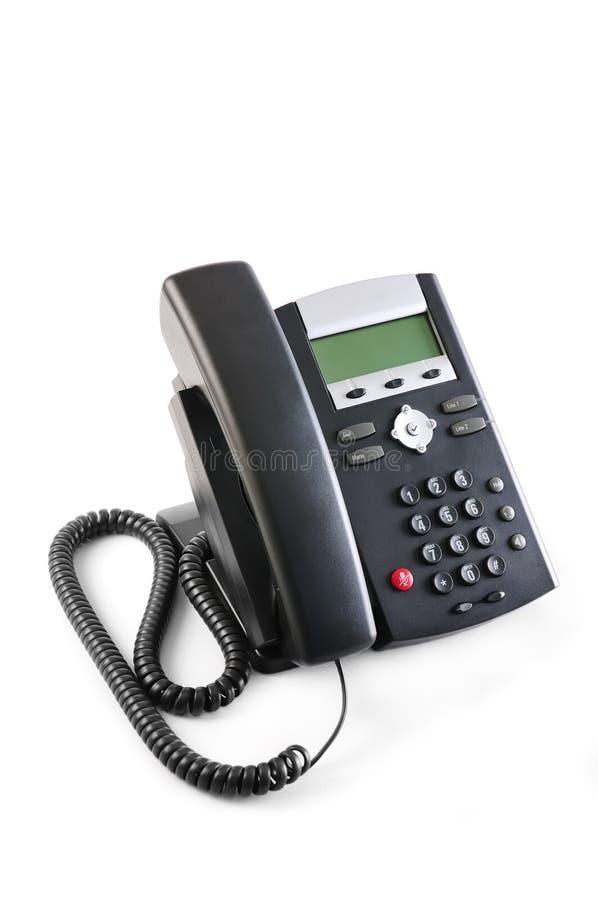 执行委员查出的电话voip 免版税库存照片