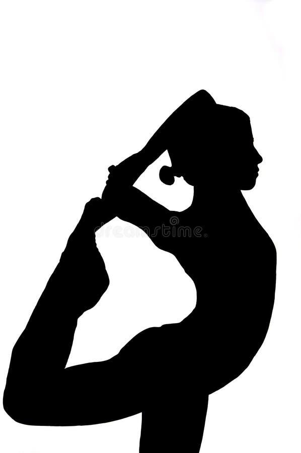 执行执行女子瑜伽年轻人 免版税图库摄影