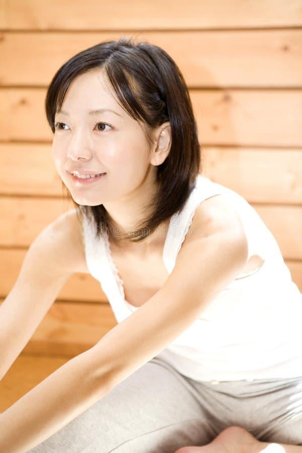 执行执行日本人妇女 免版税库存图片
