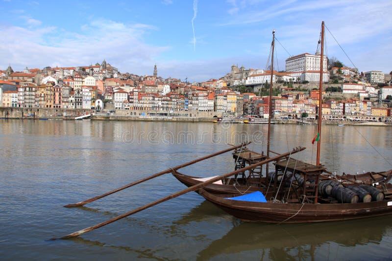 执行波尔图葡萄牙ribeira 免版税图库摄影