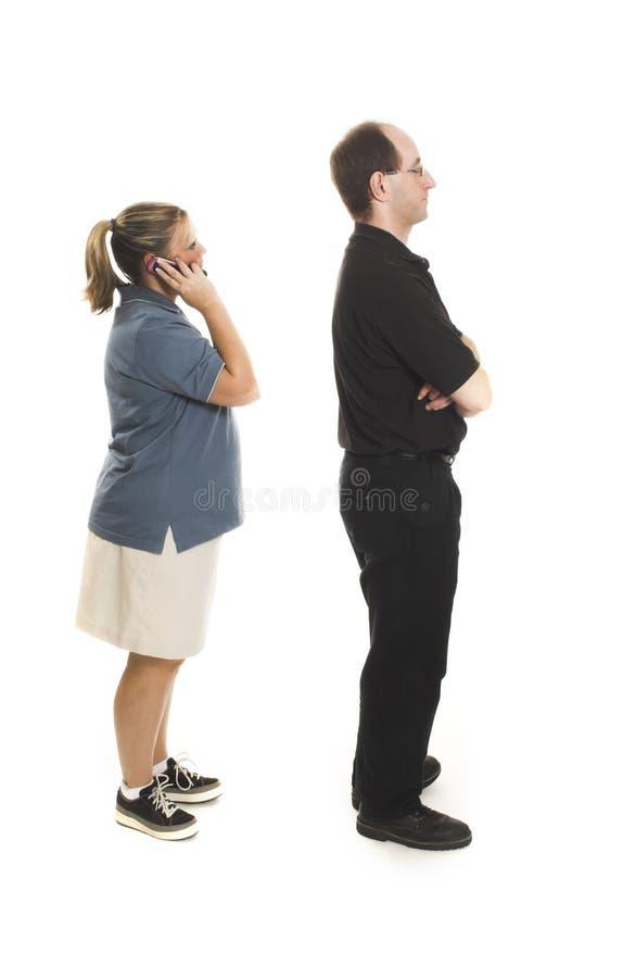 执行线路人们  免版税图库摄影