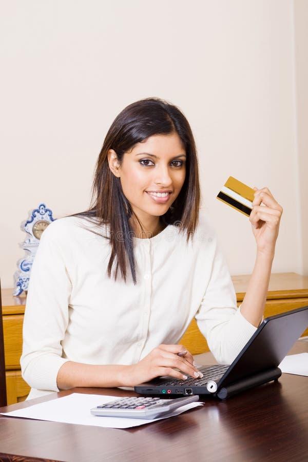 执行财务妇女 库存图片