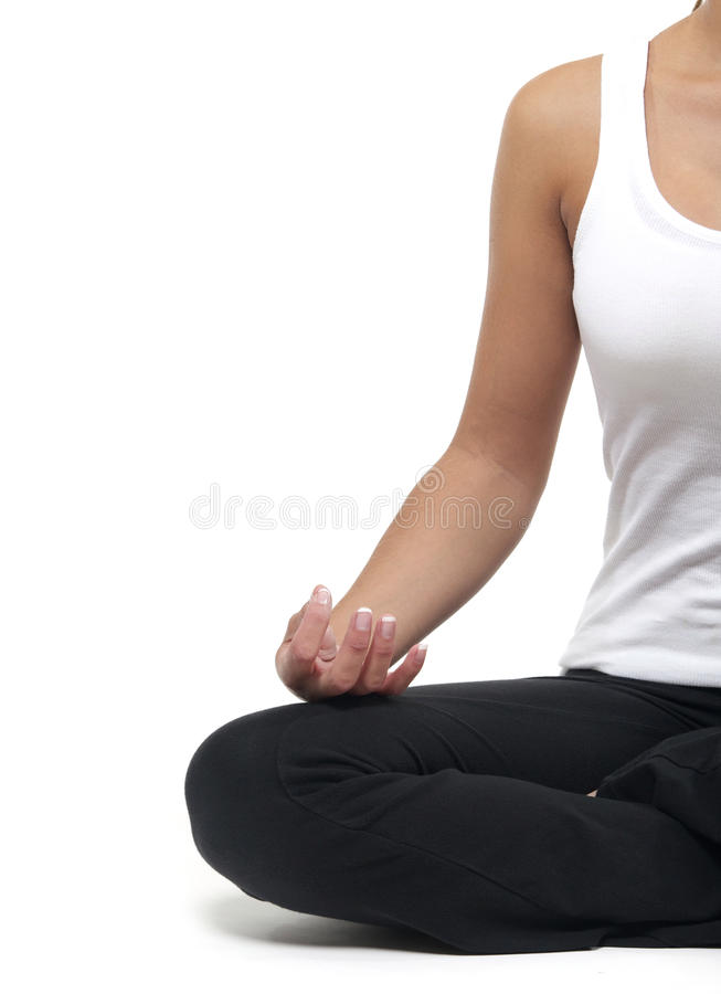 执行躯干女子瑜伽 免版税库存图片