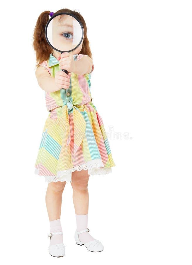 扩大化儿童可笑玻璃的现有量 库存图片