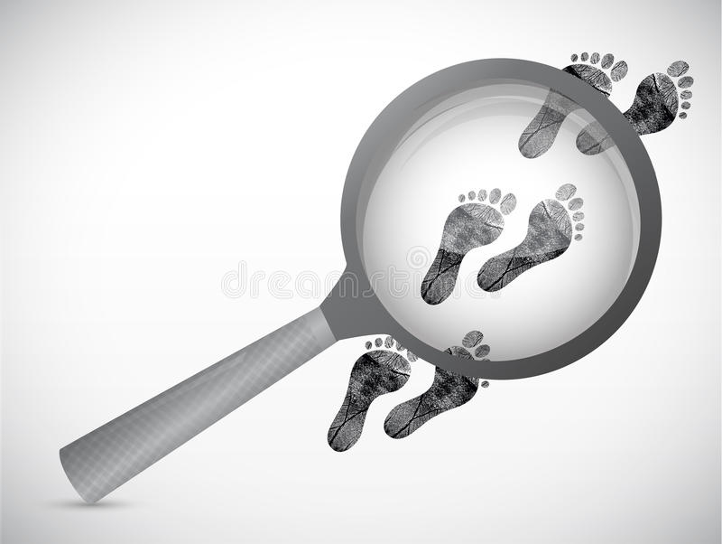 扩大化调查概念例证 向量例证
