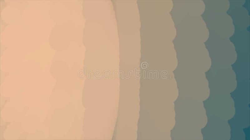 扩大在黑背景的白色球形的抽象动画 o 美好的抽象 向量例证
