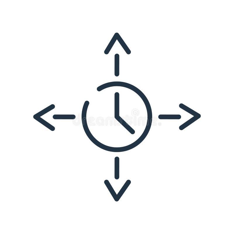 扩展在白色背景隔绝的象传染媒介,扩展标志、线标志或在概述样式的线性元素设计 向量例证