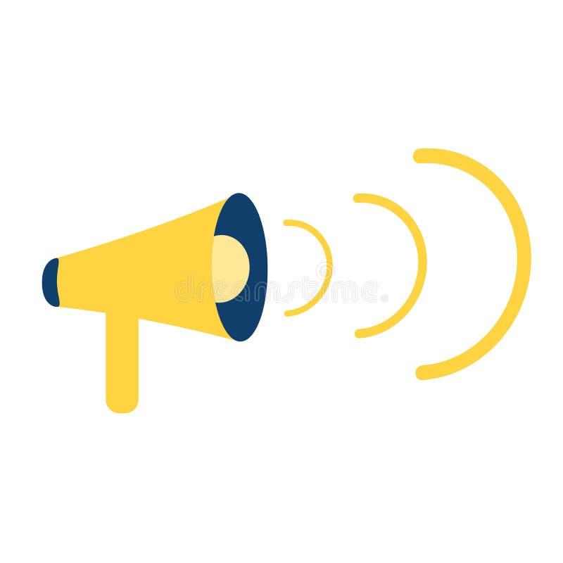 扩音器,扩音机 广告,公告,注意横幅 r 向量例证