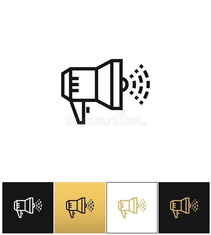 扩音机公告标志或扩音器手提式扬声机传染媒介象 库存例证
