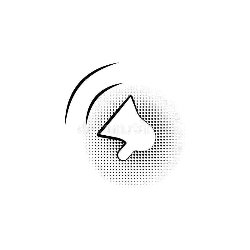 扩音机标志 在泡影的黑象在一个黄色背景流行艺术 向量 库存例证