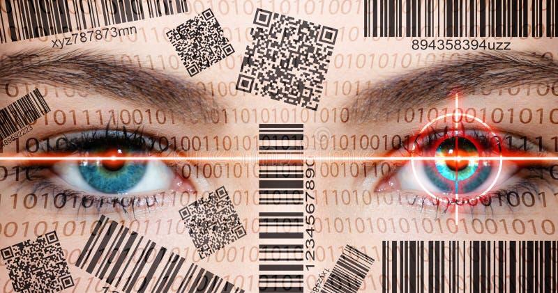 扫描器眼睛 免版税库存图片