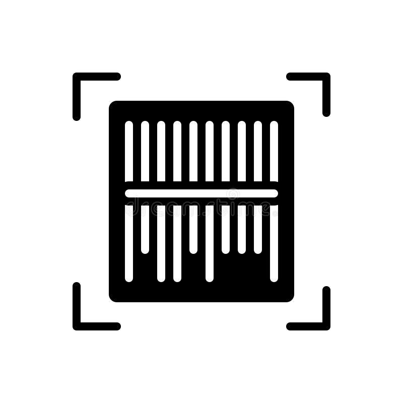 扫描器,机器和数字的黑坚实象 向量例证