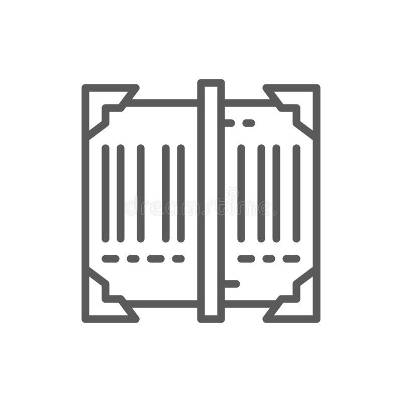 扫描条形码,跟踪线象 皇族释放例证