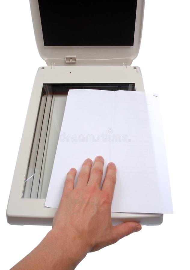 扫描程序 库存图片