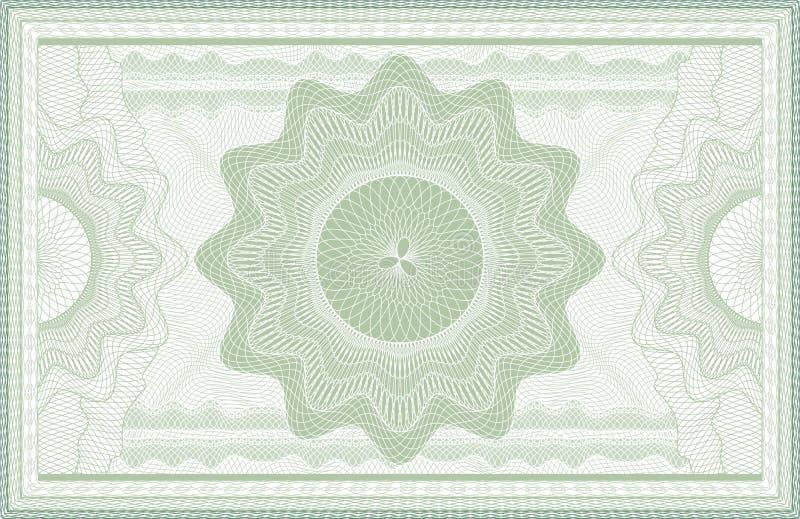 扭索状装饰钞票 皇族释放例证