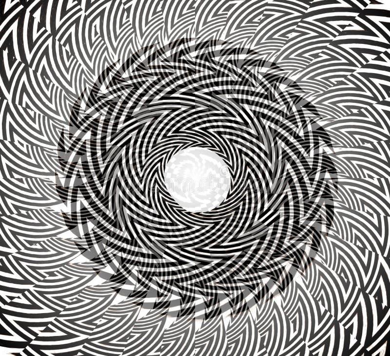 扭转的圆的设计 库存图片