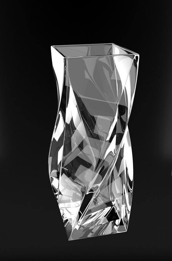 扭转的玻璃 3d翻译 皇族释放例证