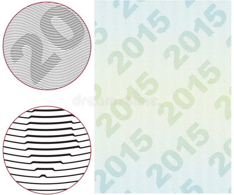 扭索状装饰背景 向量例证