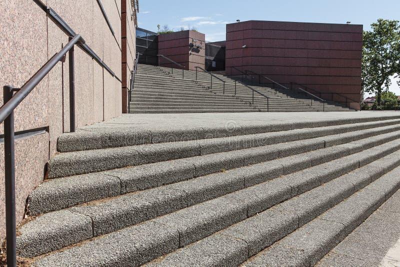 扶手栏杆和步 免版税库存图片
