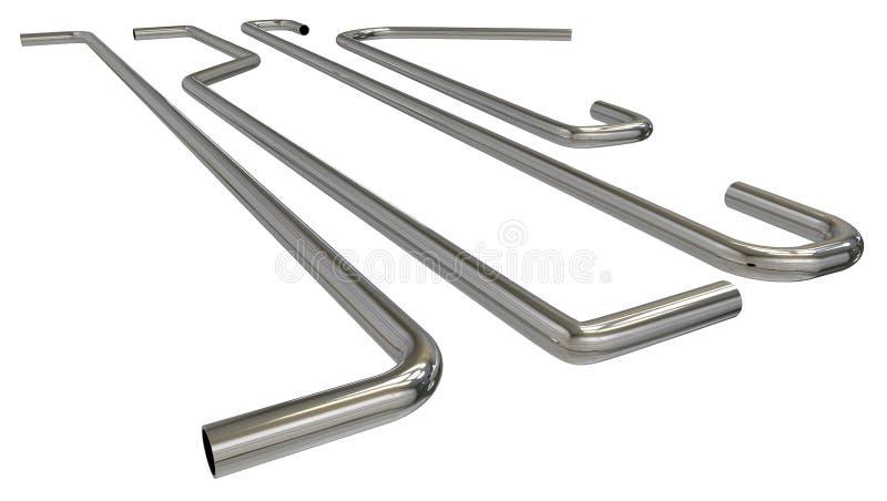 扶手栏杆管子 库存例证