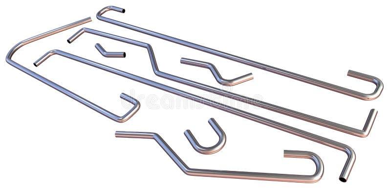 扶手栏杆管子 向量例证