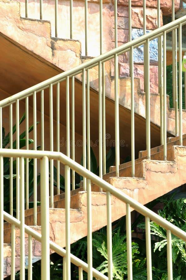 扶手栏杆阶段 库存照片