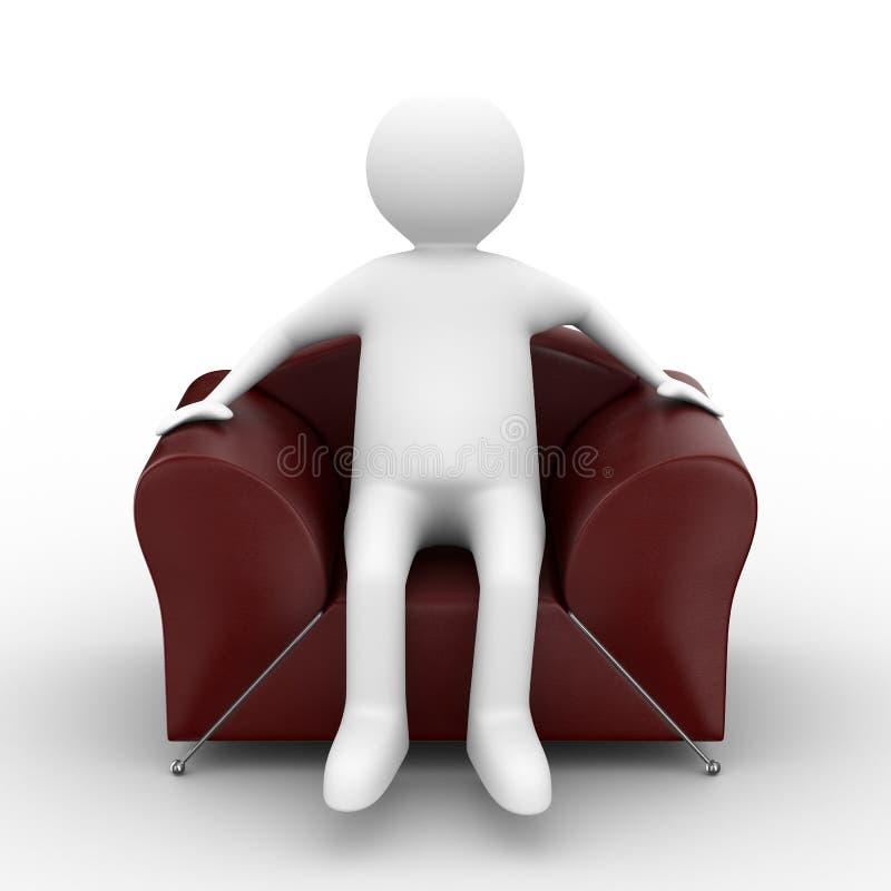 扶手椅子人员开会 库存例证