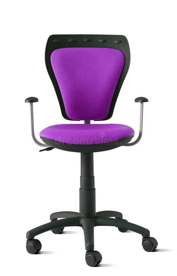 扶手椅子保险开关办公室紫色 免版税库存照片
