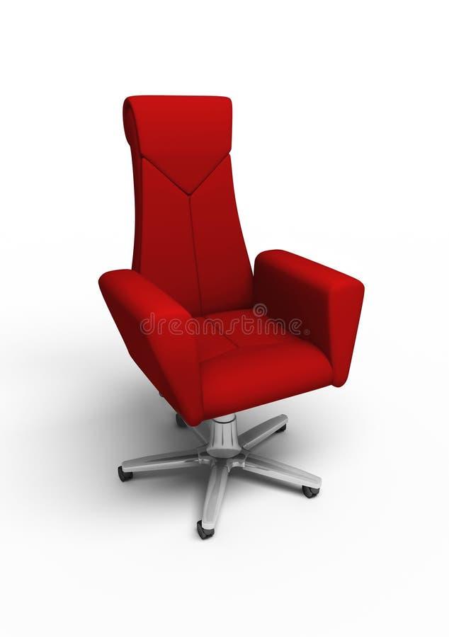扶手椅子办公室红色 库存例证