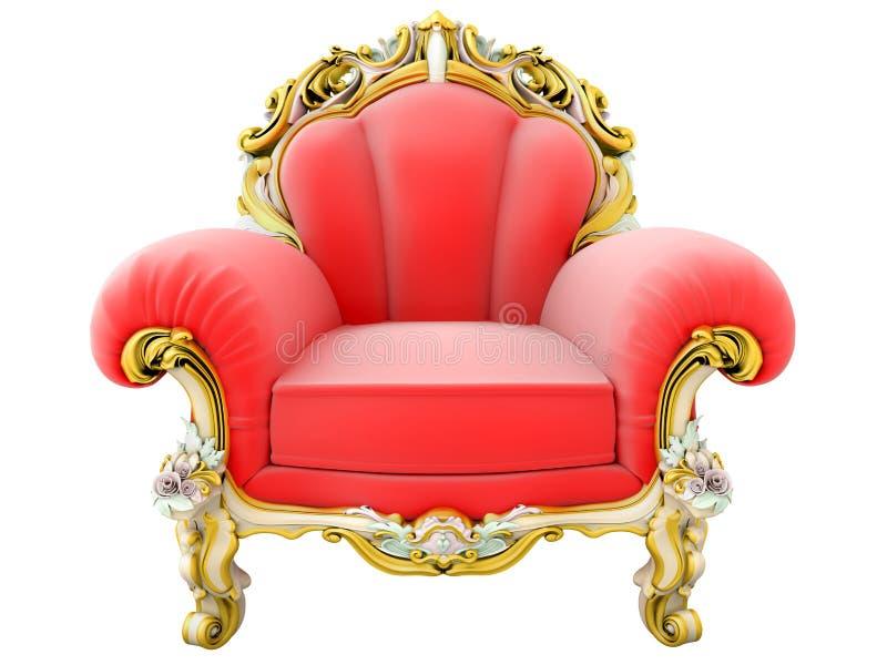 扶手椅子国王 库存图片