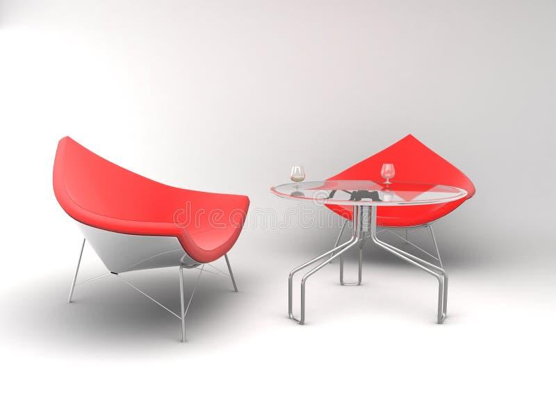 扶手椅子家具表丝毫 向量例证