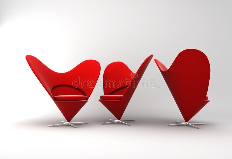 扶手椅子家具 库存例证