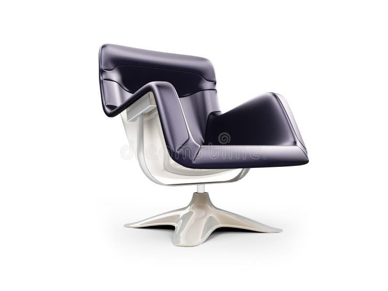 扶手椅子查出的现代视图 皇族释放例证