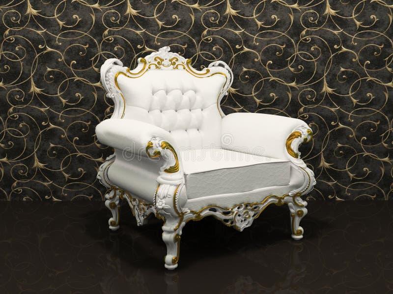 扶手椅子框架查出的皮革豪华 库存例证