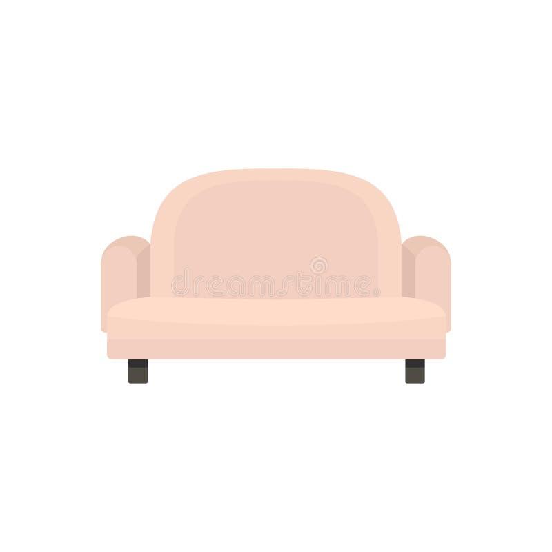 扶手椅子沙发象,平的样式 皇族释放例证