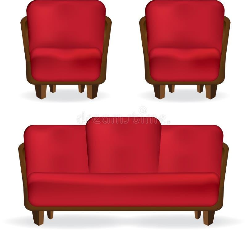 扶手椅子沙发 免版税库存图片