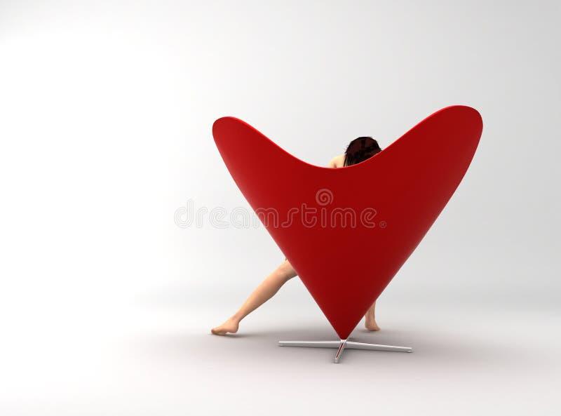 扶手椅子爱 向量例证