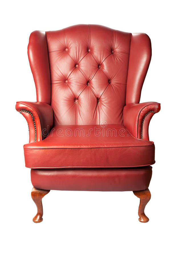 扶手椅子皮革 免版税库存图片