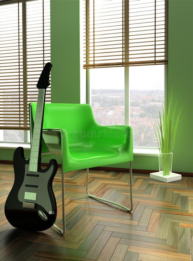 扶手椅子绿色 免版税图库摄影
