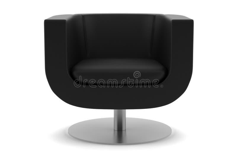 扶手椅子背景黑色查出的白色 向量例证