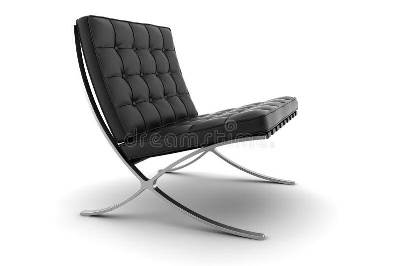 扶手椅子背景黑色查出的白色 库存图片