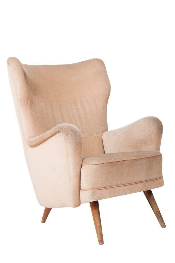 扶手椅子葡萄酒 免版税库存照片