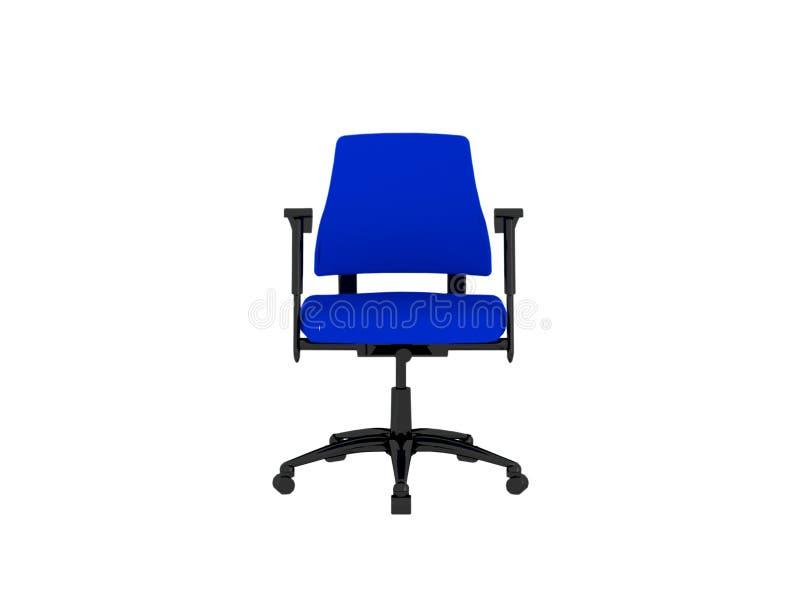 扶手椅子蓝色查出的办公室 向量例证