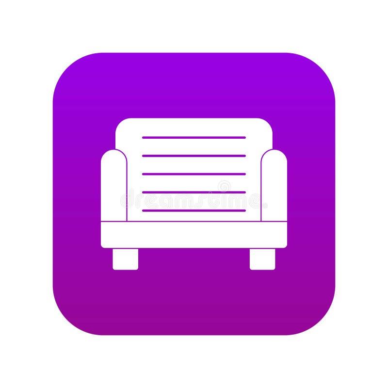 扶手椅子象数字紫色 皇族释放例证