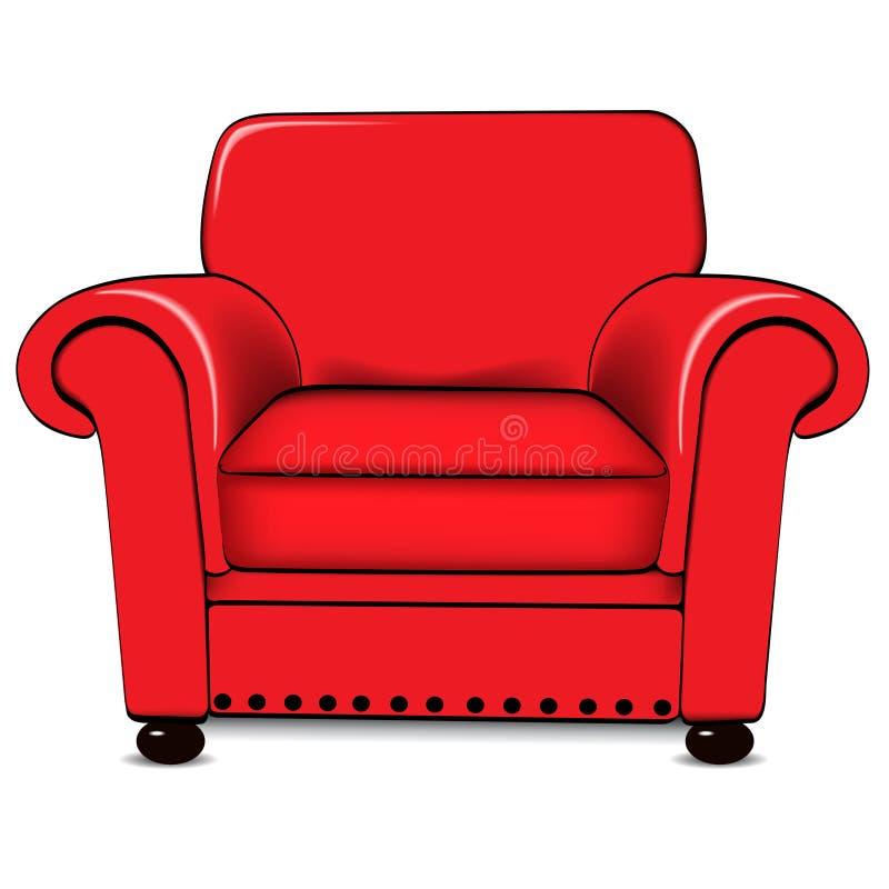 扶手椅子 向量例证